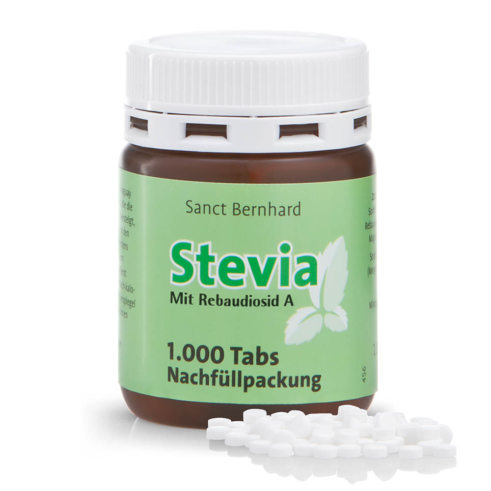 stevia tablets refill pack with tablets kr uterhaus sanct bernhard online shop. Black Bedroom Furniture Sets. Home Design Ideas